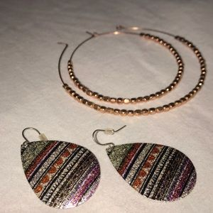 Sparkly Pair of Cost Plus World Market Earrings